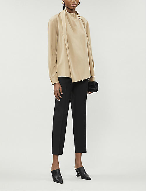 BOTTEGA VENETA Asymmetrical wool shirt