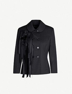 SIMONE ROCHA Contrast-panel wool-blend jacket