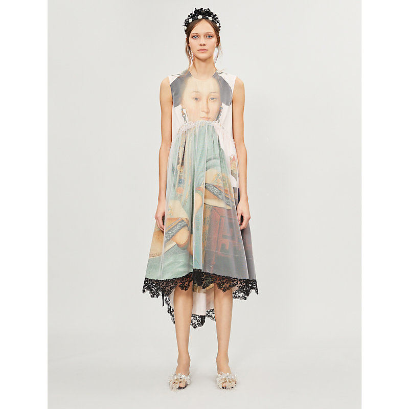 Simone Rocha Dresses GRAPHIC-PRINT COTTON AND TULLE DRESS