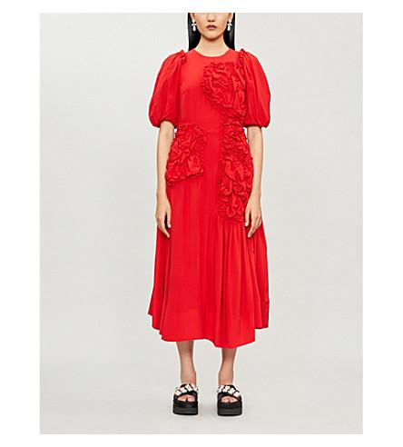 Simone Rocha Dresses RUCHED-DETAIL SILK DRESS