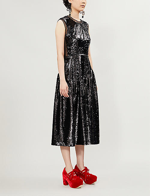 SIMONE ROCHA Sequinned tulle midi dress