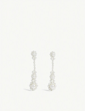 SIMONE ROCHA Pearl drop earrings