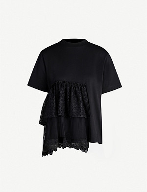 SIMONE ROCHA Tiered-panel cotton-jersey T-shirt