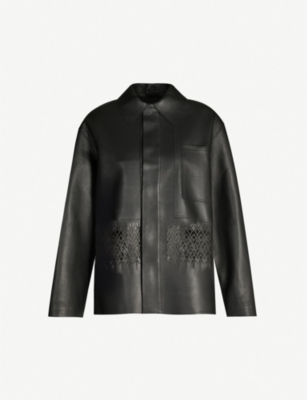 HAIDER ACKERMANN Cut-out leather jacket