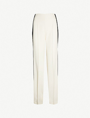 HAIDER ACKERMANN Side-stripe high-rise straight rayon trousers