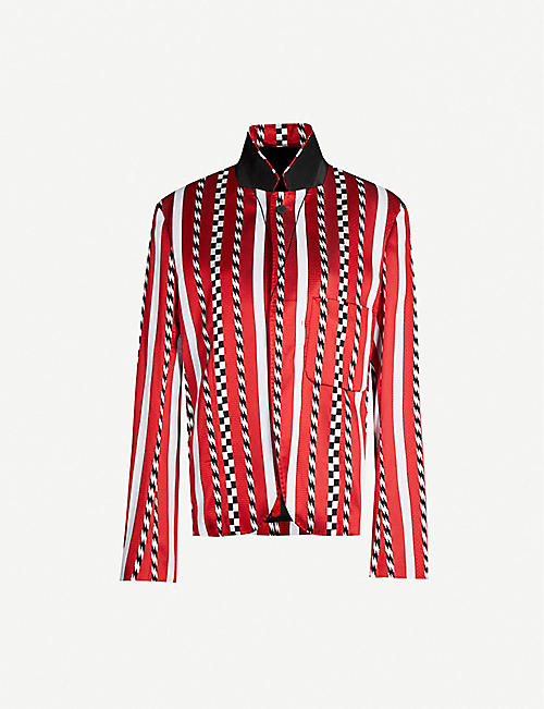 HAIDER ACKERMANN Striped single-breasted woven blazer