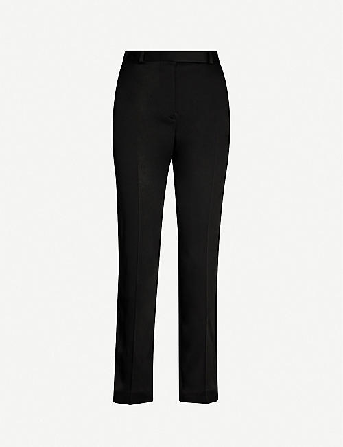 HAIDER ACKERMANN High-rise tapered satin-crepe trousers