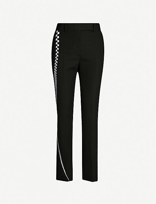 HAIDER ACKERMANN Embroidered high-rise tapered wool trousers