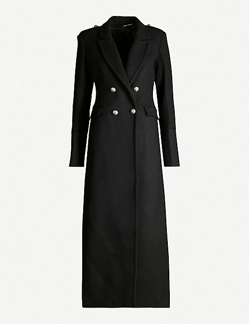 ISABEL BENENATO Double-breasted wool-blend maxi coat