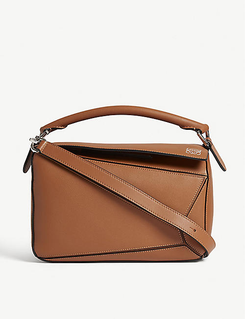 aada0b9d1389 LOEWE Puzzle small grained-leather shoulder bag