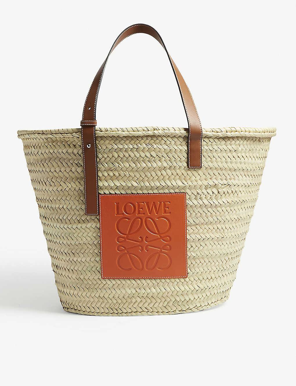 182046d6d27 LOEWE - Raffia basket bag   Selfridges.com