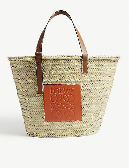 f135860b9691 LOEWE Raffia basket bag