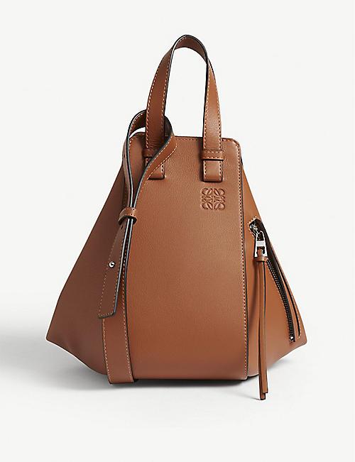 8c01092bd LOEWE Hammock small grained-leather shoulder bag
