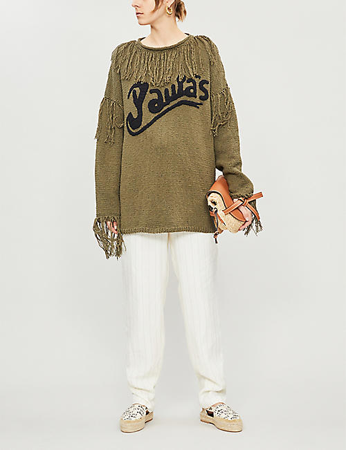 LOEWE Loewe x Paula's Ibiza tasselled cotton-knit jumper