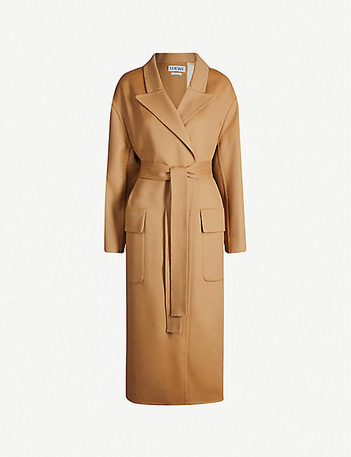 d54c33cfec3c3 LOEWE Botanical belted wool and mohair-blend coat