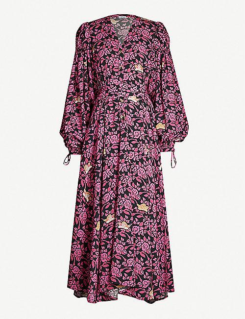 f5f74a4e8688 LOEWE Loewe x Paula s Ibiza balloon-sleeve floral-print crepe midi dress