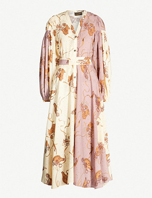 LOEWE Loewe x Paula's Ibiza two-tone crepe midi dress