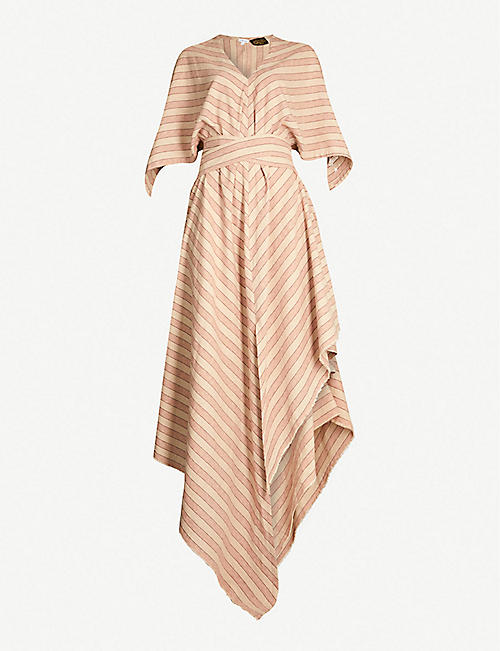 LOEWE Loewe x Paula's Ibiza asymmetric ruffled cotton dress