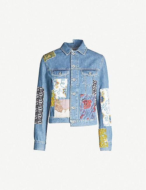 7722e3323d7d4d LOEWE Loewe x Paula s Ibiza patchwork denim jacket