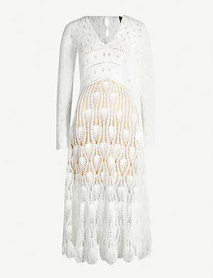 LOEWE Loewe x Paula's Ibiza cotton-crochet midi dress