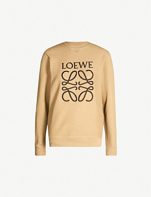 LOEWE Logo-embroidered cotton-jersey sweatshirt