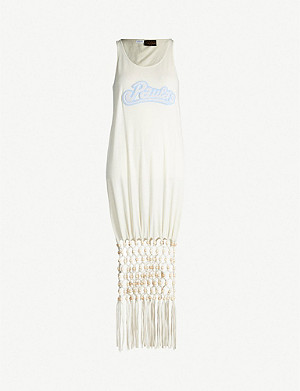 LOEWE Loewe x Paula's Ibiza logo-appliquéd cotton and silk-blend dress