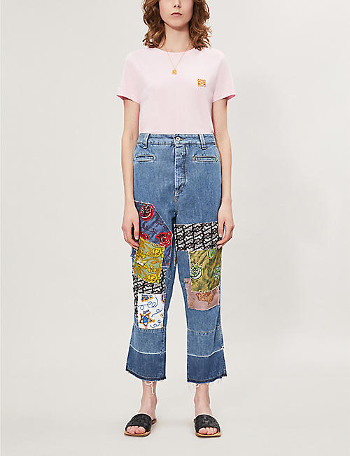 LOEWE Brand-embroidery cotton-jersey T-shirt