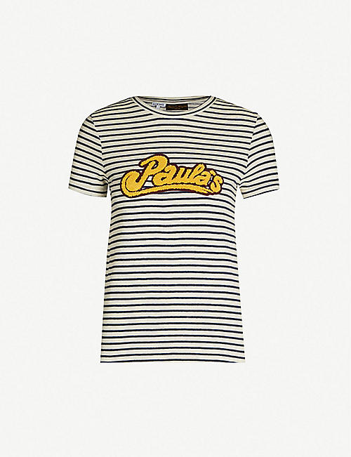 a41e4f97e23d91 LOEWE Loewe x Paula s Ibiza logo-patch cotton and linen-blend T-shirt