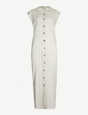 DANIEL GREGORY NATALE Striped jersey midi dress