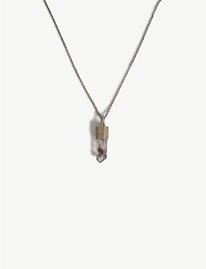 PARTS OF FOUR Dirty sterling silver amethyst quartz amulet necklace