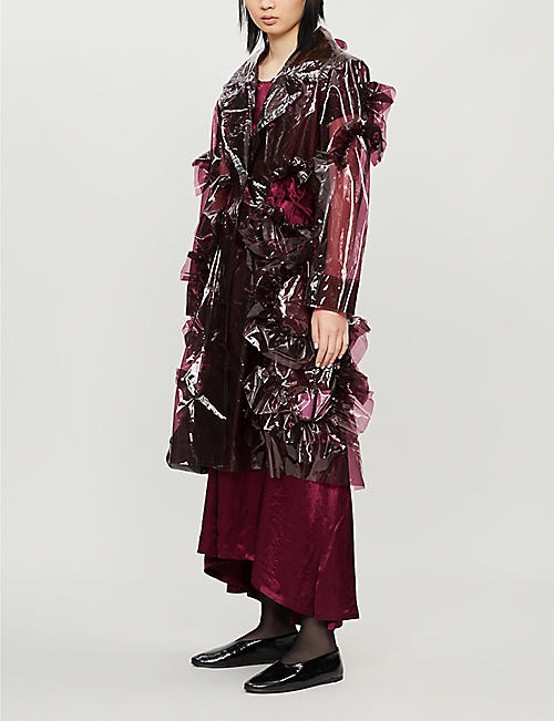 ROBERTS WOOD Ruffled shell coat