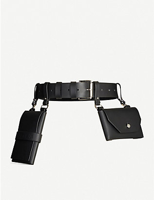 FLEET ILYA: Double pocket leather belt