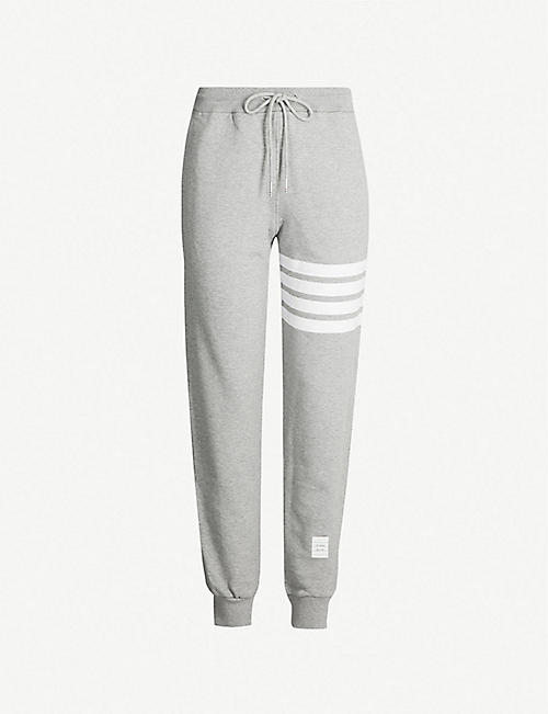 0f7843498 THOM BROWNE 4-bar Stripe cotton-jersey jogging bottoms