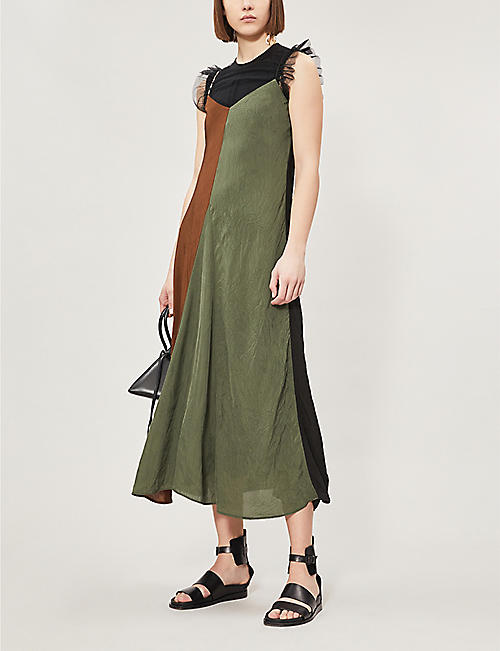 SONG FOR THE MUTE Panelled woven midi dress