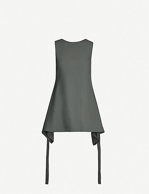 SONG FOR THE MUTE Flared-hem crepe top