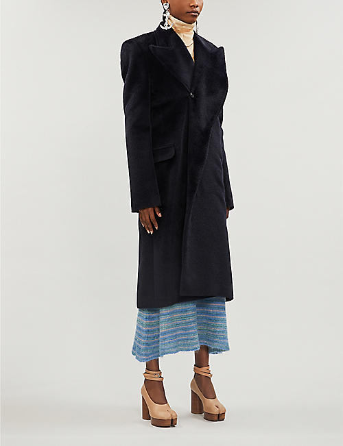 Y/PROJECT Relaxed-fit alpaca and wool-blend coat