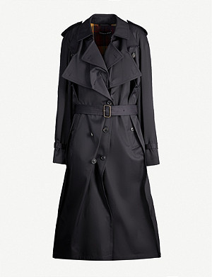 Y/PROJECT Layered woven twill coat
