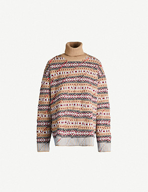 Y/PROJECT Fair Isle turtleneck wool-knit jumper