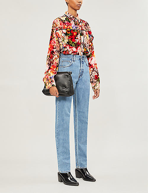 Y/PROJECT Floral-patterned velvet shirt