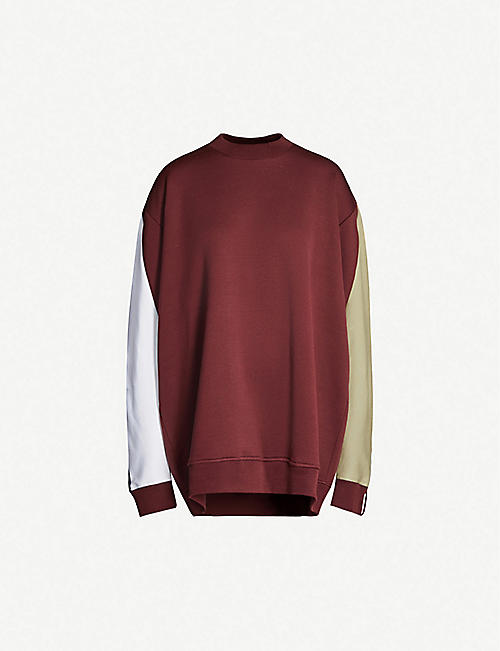 Y/PROJECT Contrast-panel cotton sweatshirt