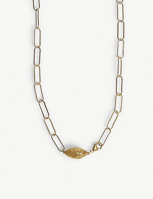 ALIGHIERI L'Incognito 24ct gold-plated necklace