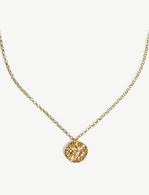 ALIGHIERI The Unspoken Trust gold-plated charm necklace