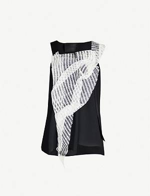 OMER ASIM V-neck sleeveless silk top