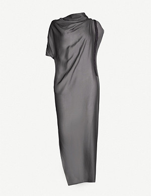 OMER ASIM High-neck draped silk dress
