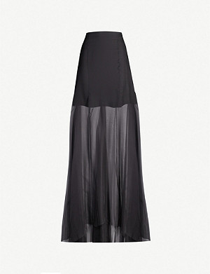 OMER ASIM Haraza high-rise silk maxi skirt