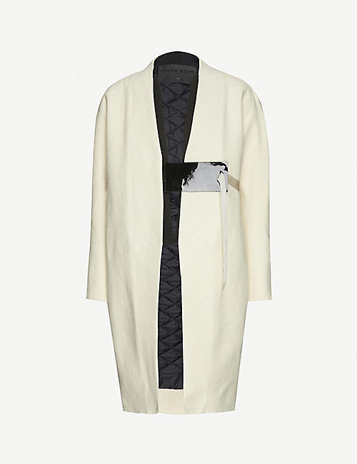 OMER ASIM: Tie-front cotton coat