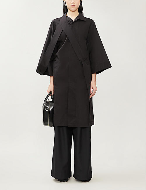 OMER ASIM Asymmetrical oversized cotton-poplin shirt