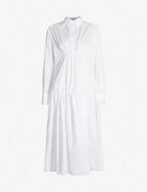 CECILIE BAHNSEN Thea oversized gathered cotton shirt dress
