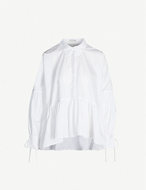 CECILIE BAHNSEN Andrea puffed-sleeve cotton shirt