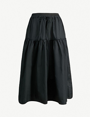 CECILIE BAHNSEN High-waisted flared cotton skirt